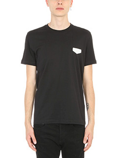 Givenchy-T-Shirt Logo Patch in cotone nero