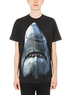 Givenchy-T-Shirt Over Shark Print in cotone nero