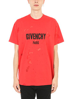 Givenchy-T-Shirt Givenchy Paris in cotone rosso