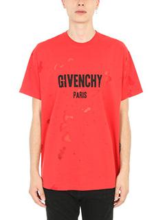 Givenchy-Distressed logo print T-shirt