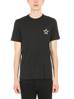 Givenchy-T-Shirt Star Print in cotone nero