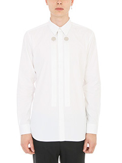 Givenchy-Camicia Button Panel in cotone bianco