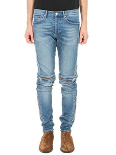 Givenchy-Biker-detail mid-rise tapered jeans