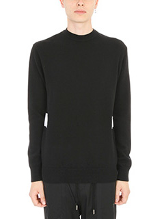 Givenchy-Maglia Tie Back in lana nera