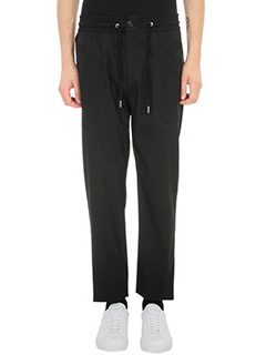 Givenchy-Pantaloni Drawsting Track in lana nera