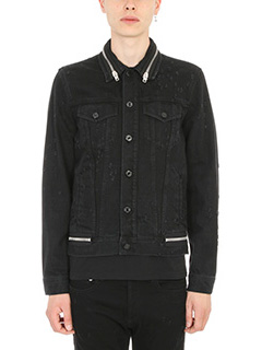 Givenchy-Giacca Zipped in denim nero