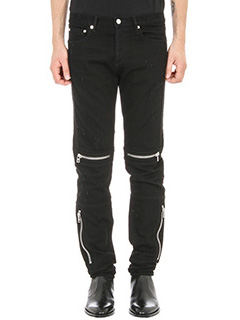 Givenchy-Jeans Distressed Biker in denim nero