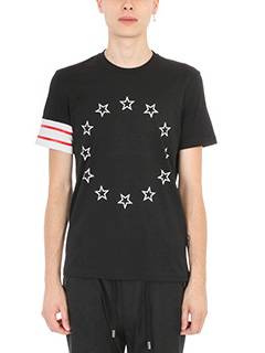 Givenchy-Star embroidered T-shirt