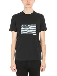 Givenchy-T-Shirt Flag in cotone nero