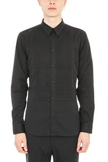 Givenchy-Camicia Plissettata in cotone nero