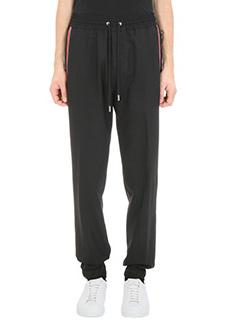 Givenchy-Pantalon Star Piping in lana nera