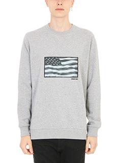 Givenchy-Felpa American Flag in cotone grigio