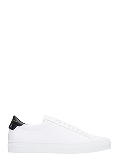 Givenchy-Sneakers Urban street in pelle bianca nera