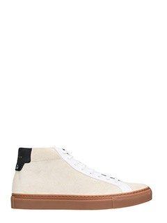 Givenchy-Sneakers Urban Street Mid in pelle e suede Light Beige