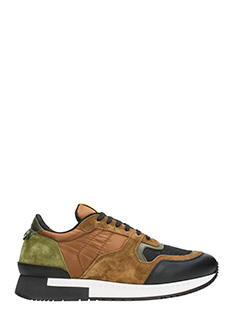 Givenchy-Sneakers Runner Active in pelle marrone