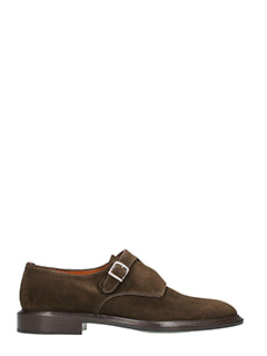 Givenchy-Stringate Monk Strap in suede marrone