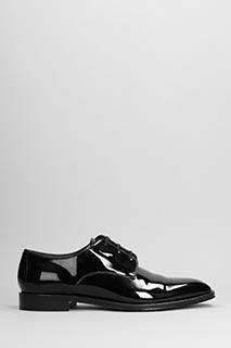 Givenchy-Stringate Derby in vernice nera
