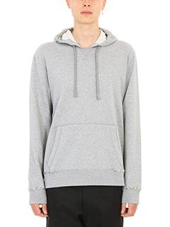 Valentino-Piramid Stud grey hoodie