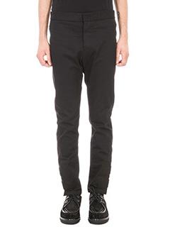 Valentino-black biker cotton pants