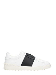 Valentino-Sneakers Open in pelle bianca