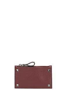 Valentino-rockstud zipped wallet