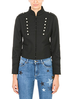 Red Valentino-cropped band jacket
