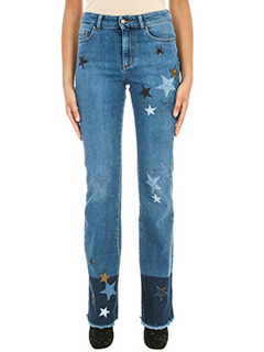 Red Valentino-Star Patch blue denim