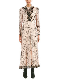 Red Valentino-Stardust printed stretch pink silk