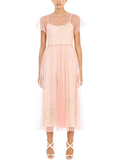 Red Valentino-Abito Soft Point Despirit in tulle rosa