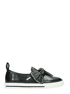 Red Valentino-Sneakers Bow in pelle nera