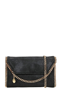 Stella McCartney-Borsa Falabella mini in shaggy deer nero
