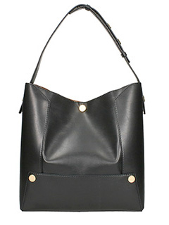 Stella McCartney-Borsa Stella Popper Bucket in ecopelle nera
