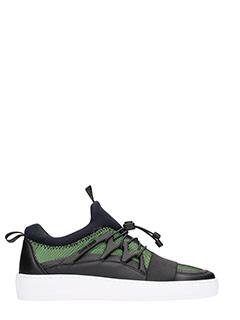 Thoms Nicoll-Sneakers in pelle nera verde