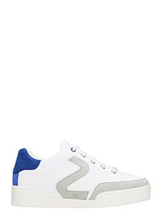 Stella McCartney-Sneakers in eco pelle bianca. lacci