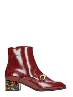 Stella McCartney-Skite Borgundy Faux-leather ankle boots