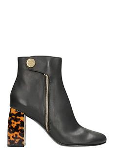 Stella McCartney-Tortoiseshell Heel Ankle Boots