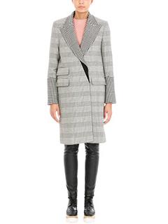 Stella McCartney-Cappotto Odelia  Check in lana bianca nera