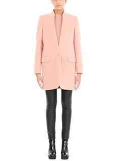 Stella McCartney-Cappotto Bryce in lana rosa cipria