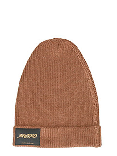 Stella McCartney-classic beige knitted beanie hat