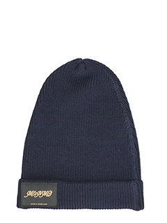 Stella McCartney-classic blue knitted beanie hat