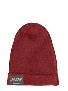 Stella McCartney-cappello classico in lana bordeaux