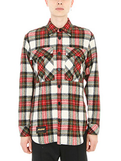 Stella McCartney-Camicia Tartan in lana rossa multicolore