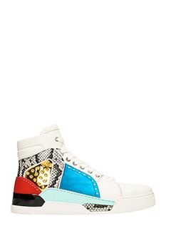 Christian Louboutin-Sneakers Loubikick Flat in pelle bianca