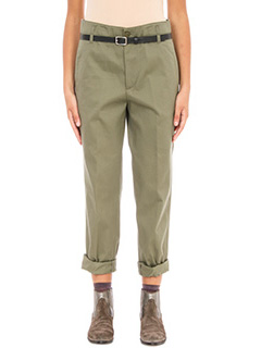 Golden Goose Deluxe Brand-Pantaloni pence in cotone verde