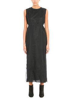 Golden Goose Deluxe Brand-Black Tulle and viscose dress