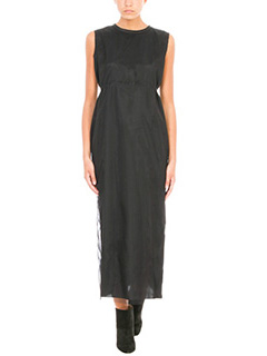 ... Golden Goose Deluxe Brand BLACK TULLE AND VISCOSE DRESS 2 ...