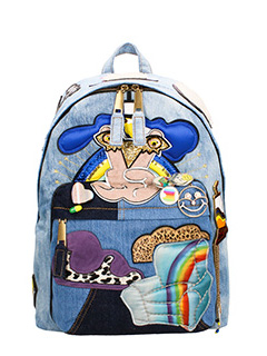 Marc Jacobs-Zaino Denim Julie Biker Backpack in denim azzurro