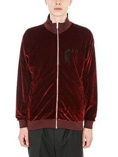 Golden Goose Deluxe Brand-Felpa Walter in velour Bordeaux