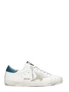 Golden Goose Deluxe Brand-Sneakers Superstar in pelle bianca ottanio