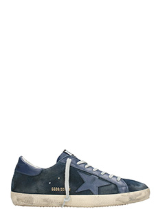 Golden Goose Deluxe Brand-Sneakers Superstar in pelle navy